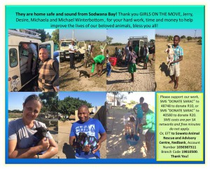Girls on the Move and the Soweto Animal Rescue and Advisory Centre chip in to make a difference!